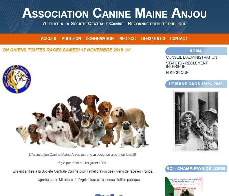 Exposition Canine Nationale - Le Mans - Novembre 2018